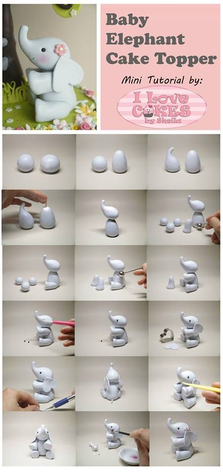 elephant tutorial by I love cakes by Shelia Baby cakes Pinterest