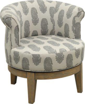 Kateri Gray Swivel Accent Chair Swivel Accent Chair Swivel