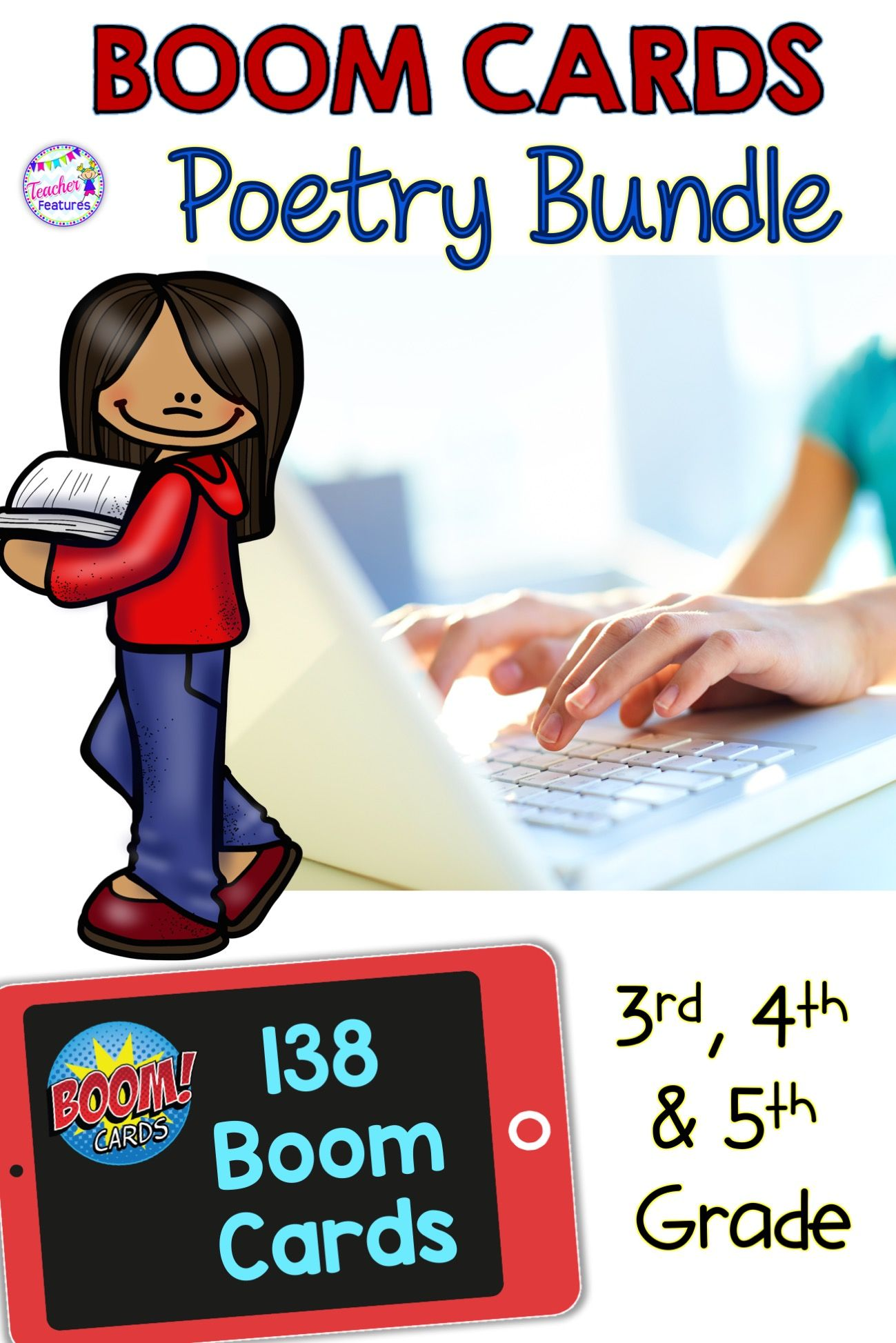 Boom Cards Distance Learning 4th Grade Poetry Elements
