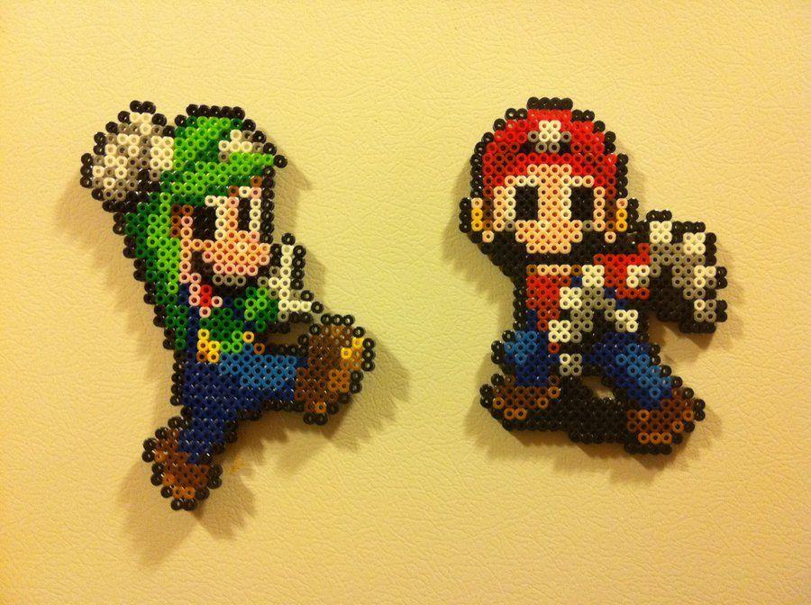 Mario And Luigi Bead Sprites By Night Tag Mario Sprites