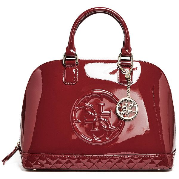 Guess Amy Quattro G Patent Dome Satchel 128 Liked On Polyvore Featuring Bags