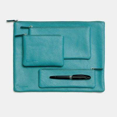 Bookbinders Design - Leather Cases, Ocean Blue