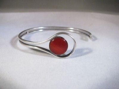Elis Kauppi Kupittaan Kulta Turku Finland 925 Sterling Silver Carnelian Bracelet | eBay