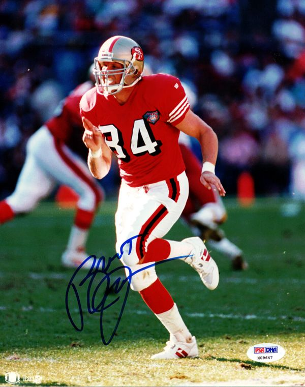 Brent Jones Autographed 8x10 Photo San Francisco 49ers PSA/DNA #X09647