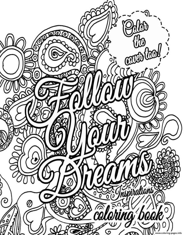 27 Best Image Of Free Printable Quote Coloring Pages For Adults
