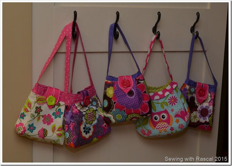 Sewing with Rascal: Little Girl Purses | Sewing | Pinterest ...