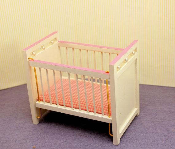 1950s Baby Cribs | Miniature Dollhouse Bed Baby Crib Nursery Furniture