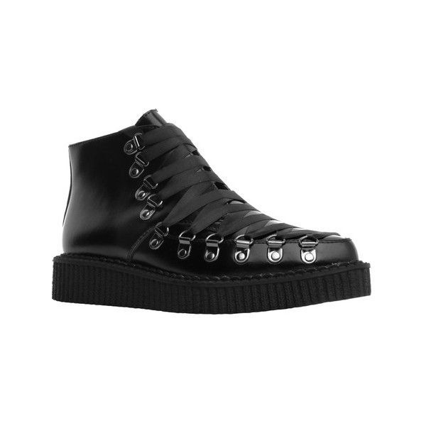 T.U.K. Original Footwear A9164 Lace Up Creeper Ankle Boot ($120) ❤ liked on  Polyvore