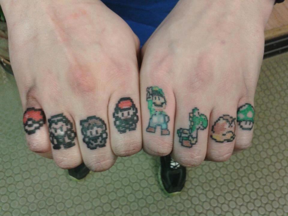 351d4553b Knuckle Tattoos, Finger Tattoos, Nerd Tattoos, Life Tattoos, Tatoos