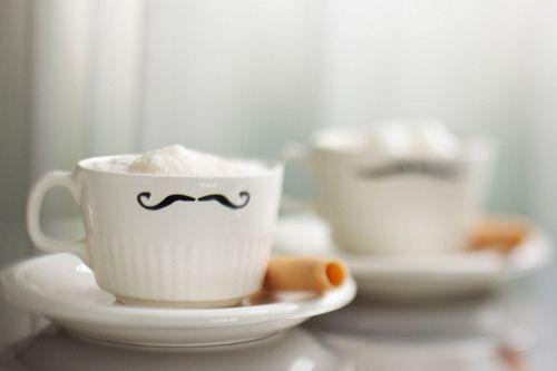 The mustache before the milk mustache