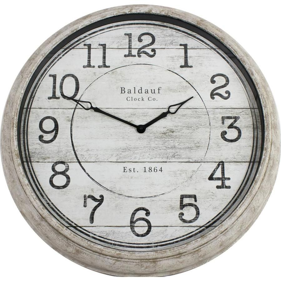 Allen Roth Analog Round Indoor Wall Clock In Off White 1708 6078low In 2020 Clock Wall Decor Wall Clock Clock