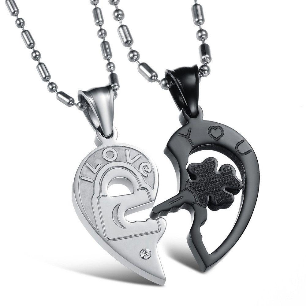 Couples joint heart pendant necklace products pinterest couple
