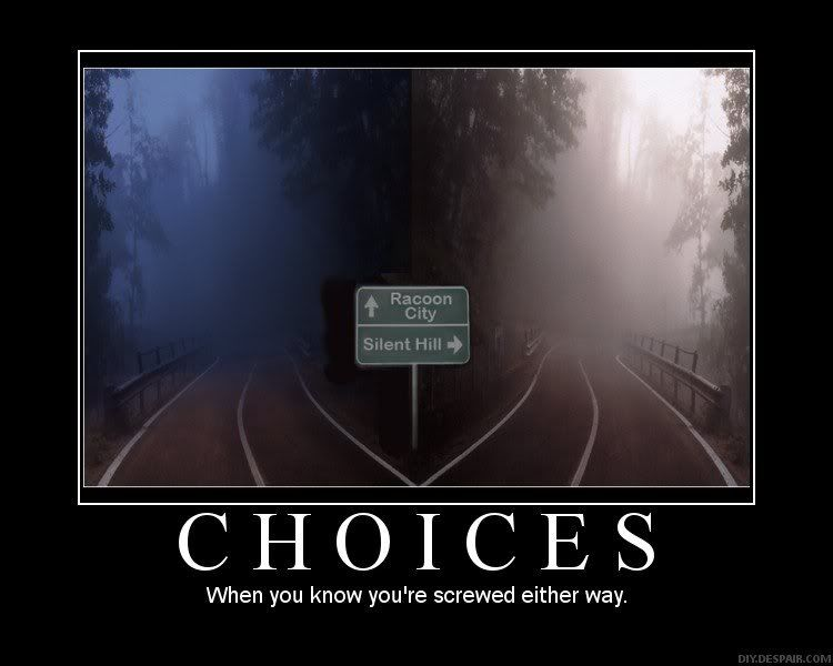Raccoon City Or Silent Hill Silent Hill Resident Evil Funny Posters