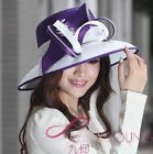 For Sale  Free shipping formal hat satin dress hat church women hat wide brim c  Fashionable Hats