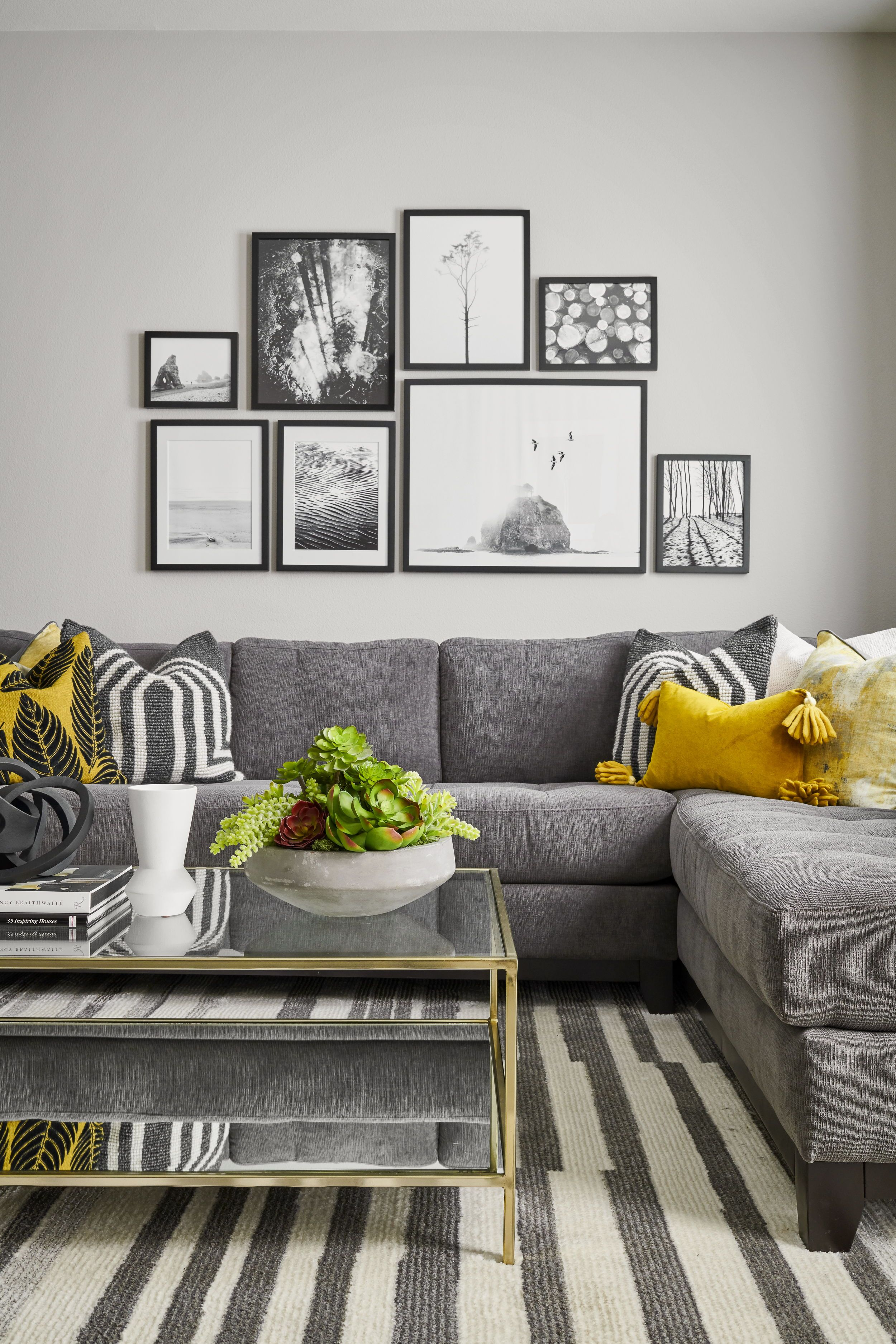 10 Top White Grey And Yellow Living Room