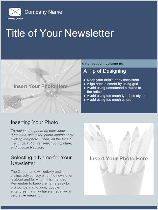 Sample Company Newsletter Examples Of Company Newsletter Designs