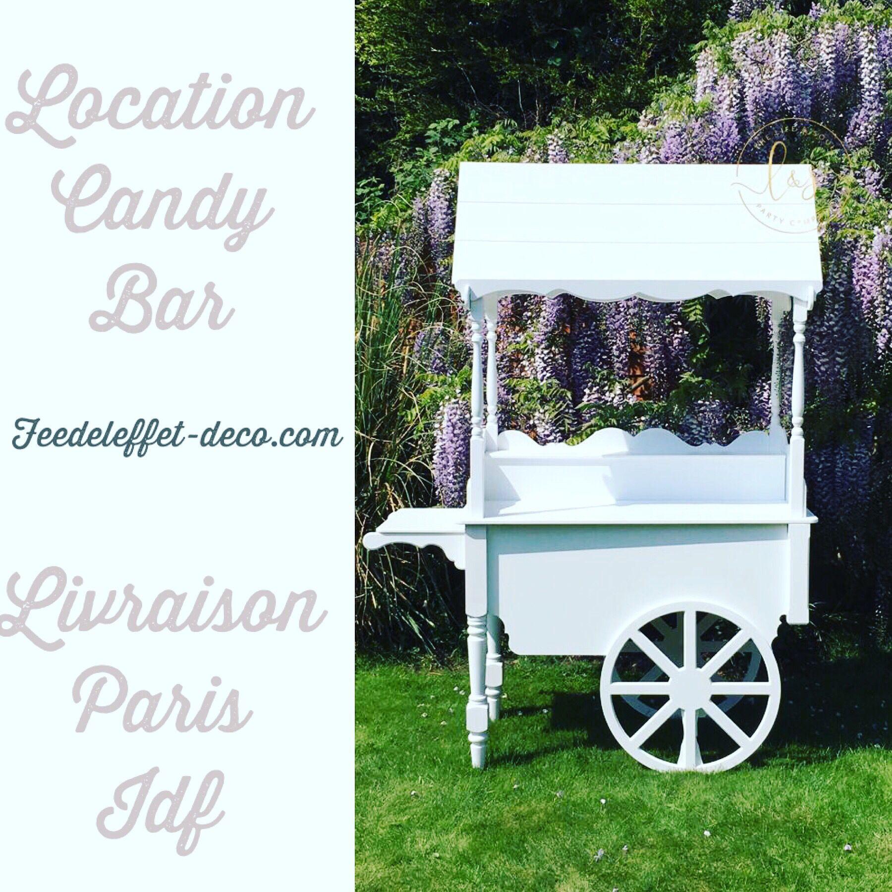 candybar charrette en location Livraison Paris et Île de