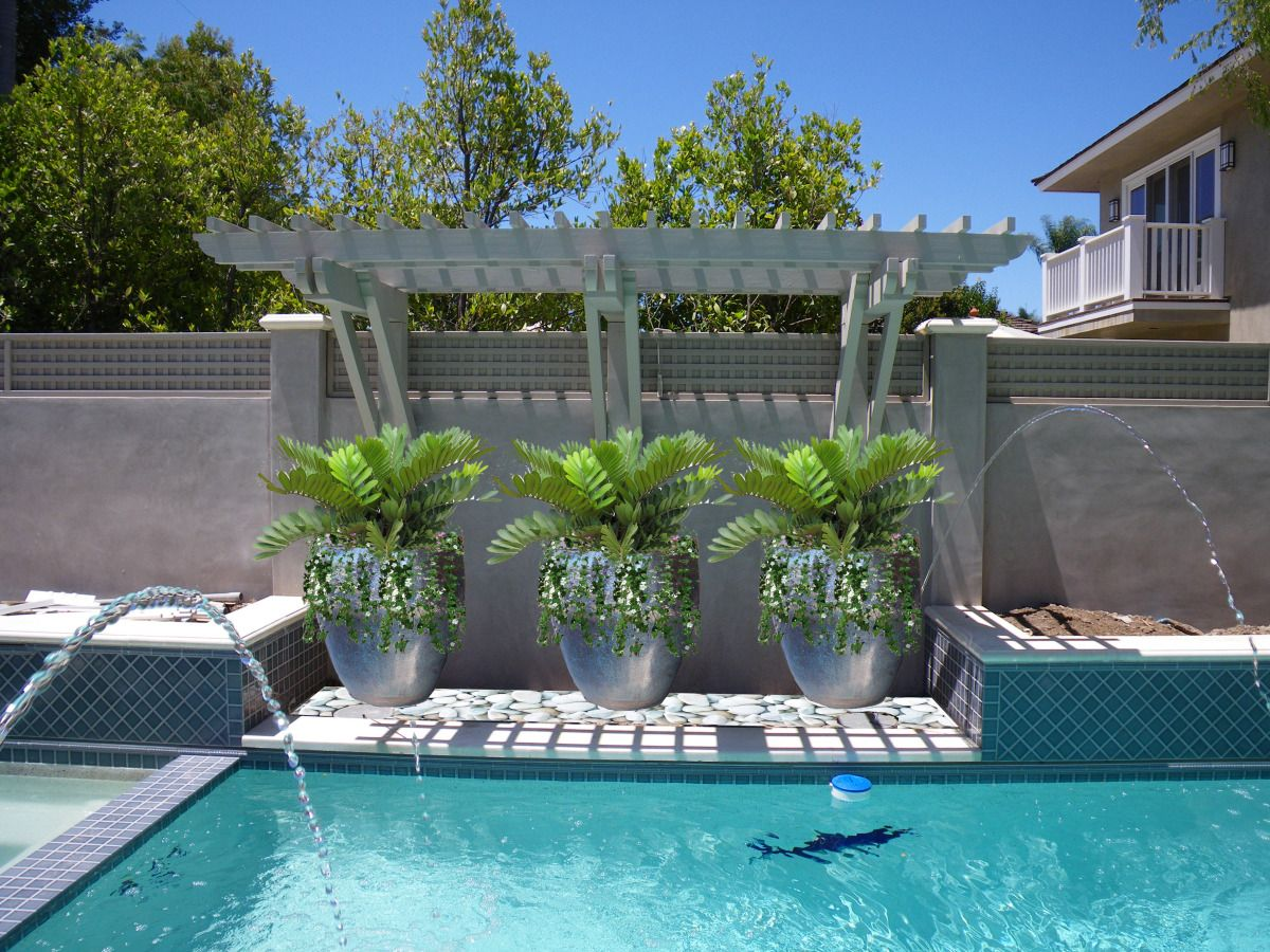 Like potted plants landscaping pinterest plants and for Big outdoor pool
