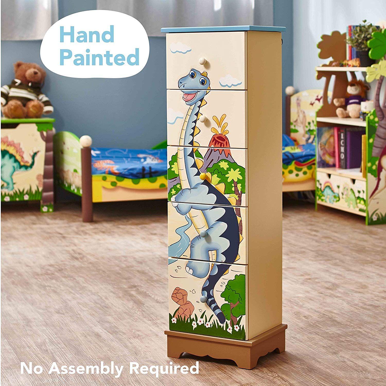 Teamson Dinosaurier Kommode Diese Handbemalte