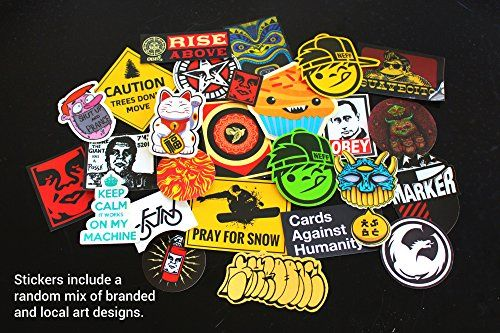 ... Skateboard Stickers · SUPERIOR QUALITY and The ONLY BAG of 100 plus 11  FREE Vinyl Graffiti Decal Logo Stickers