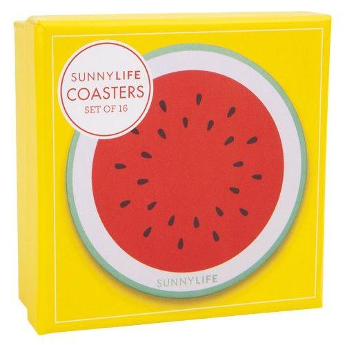 Watermelon Pineapple Coasters Sugarfina Watermelon Coaster Set Sunnylife