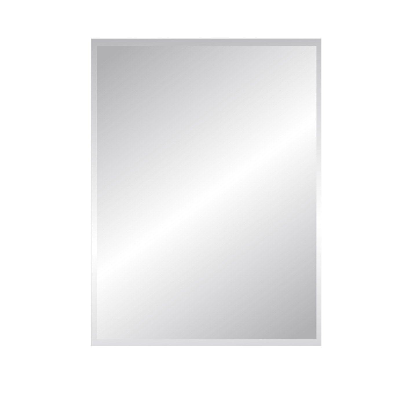 Miroir Non Lumineux Decoupe Rectangulaire L 60 X L 80 5 Cm Biseaute Leroy Merlin Miroir Miroir Biseaute Miroir De Salle De Bain