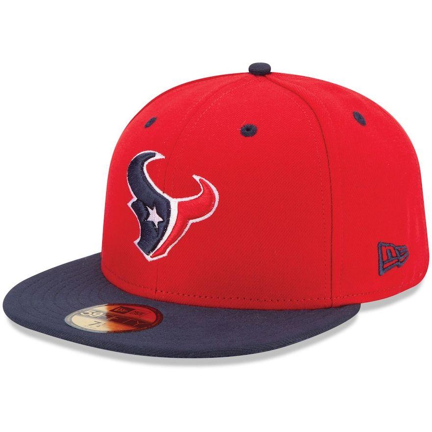 LOGA Embroidered Houston Red Baseball Cap Tonal Snapback Flat Peak Hat