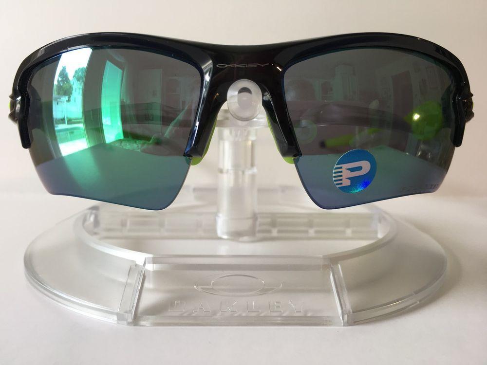 64197e985a New OAKLEY FLAK 2.0 XL JADE IRIDIUM POLARIZED Sunglasses OO9188-09 BLACK INK   fashion