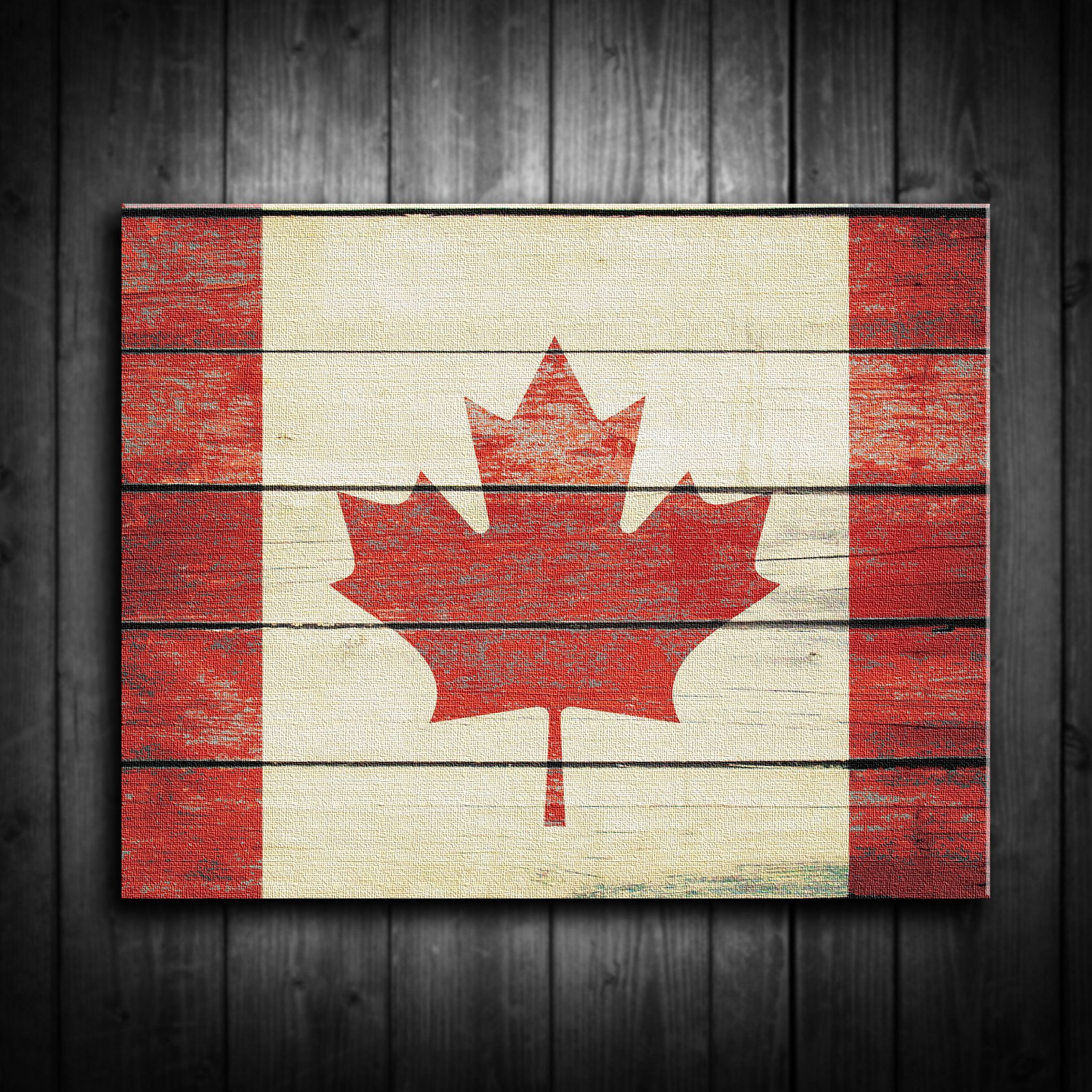 Distressed Canadian Flag Canvas Print Multiple Sizes Crafts