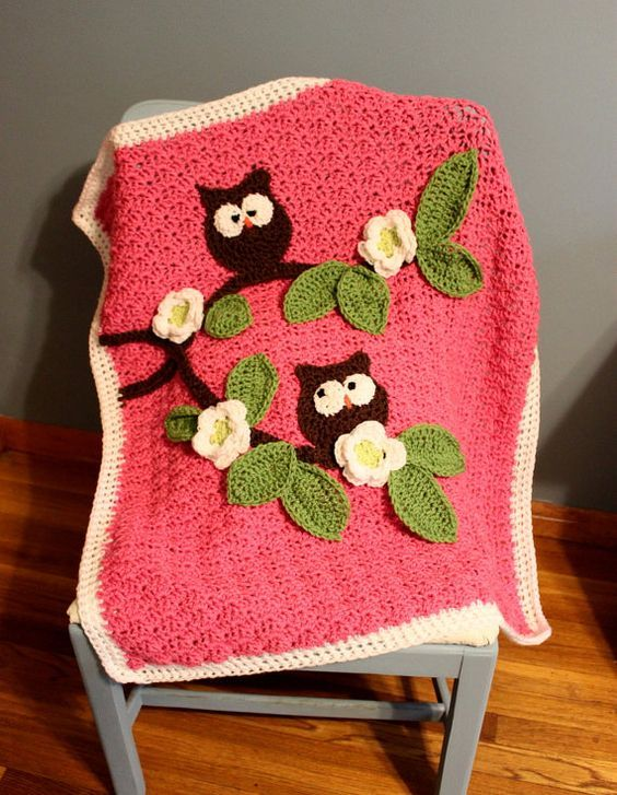 Crochet Nursery Owls Ripple Blanket With Free Pattern Crochet Baby Amazing Owl Afghan Crochet Pattern Free