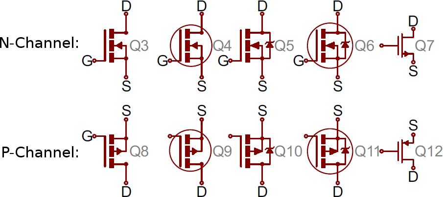 Variety Of Mosfet Symbols Electronics Pinterest Symbols