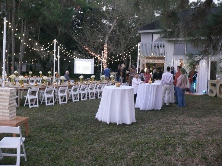 backyard 50 birthday party ideas 50th Birthday Pinterest
