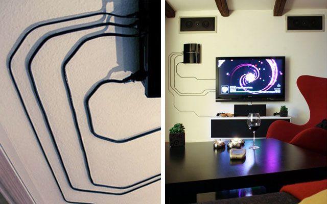 Trucos Para Disimular Los Cables Vistos Ocultar Cables De Tv Diseno De Sala De Tv Decoracion De Interiores Salones