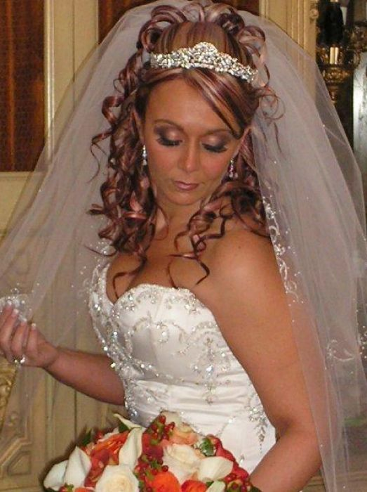 Wedding Veils With Tiaras Bridal Hair With Tiara And Veil