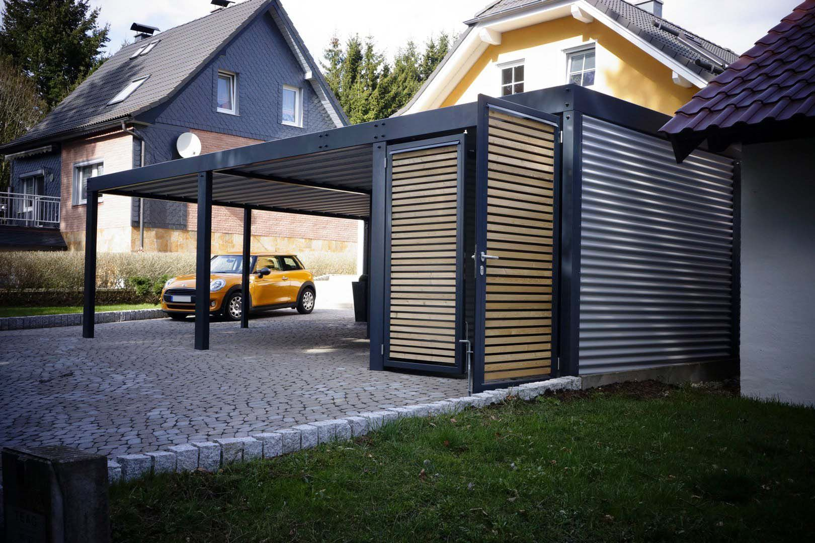 metallcarport stahlcarport kaufen metall carport preise mit abstellraum konfigurator design wien. Black Bedroom Furniture Sets. Home Design Ideas