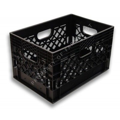 Black Rectangular Milk Crate Milk Crates Plastic Milk Crates Milk Crate Storage