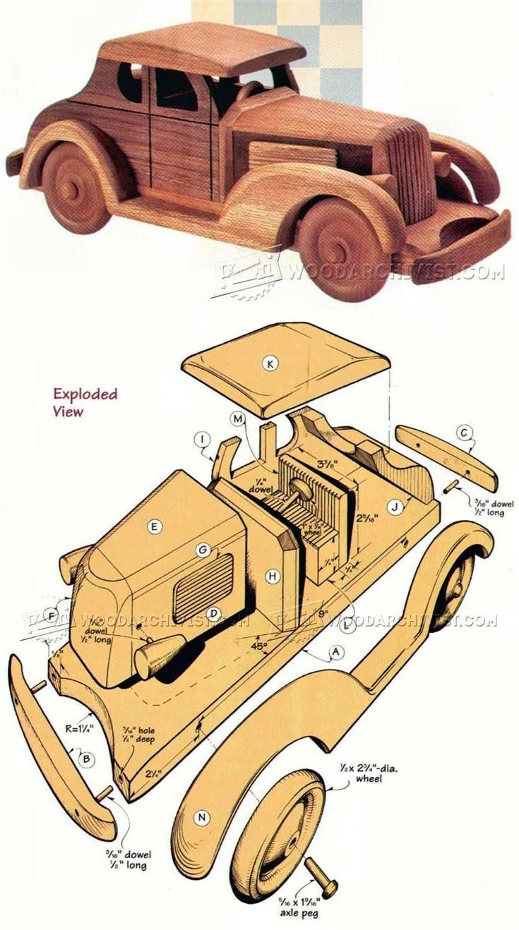 wooden deuce coupe plan - children's wooden toy plans and