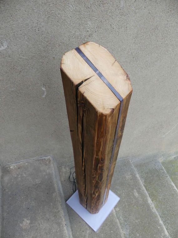 Led Floor Lamp Wood Lamp Led Light Mood Lighting By Teredoparva Holzlampe Lampe Led Lampe