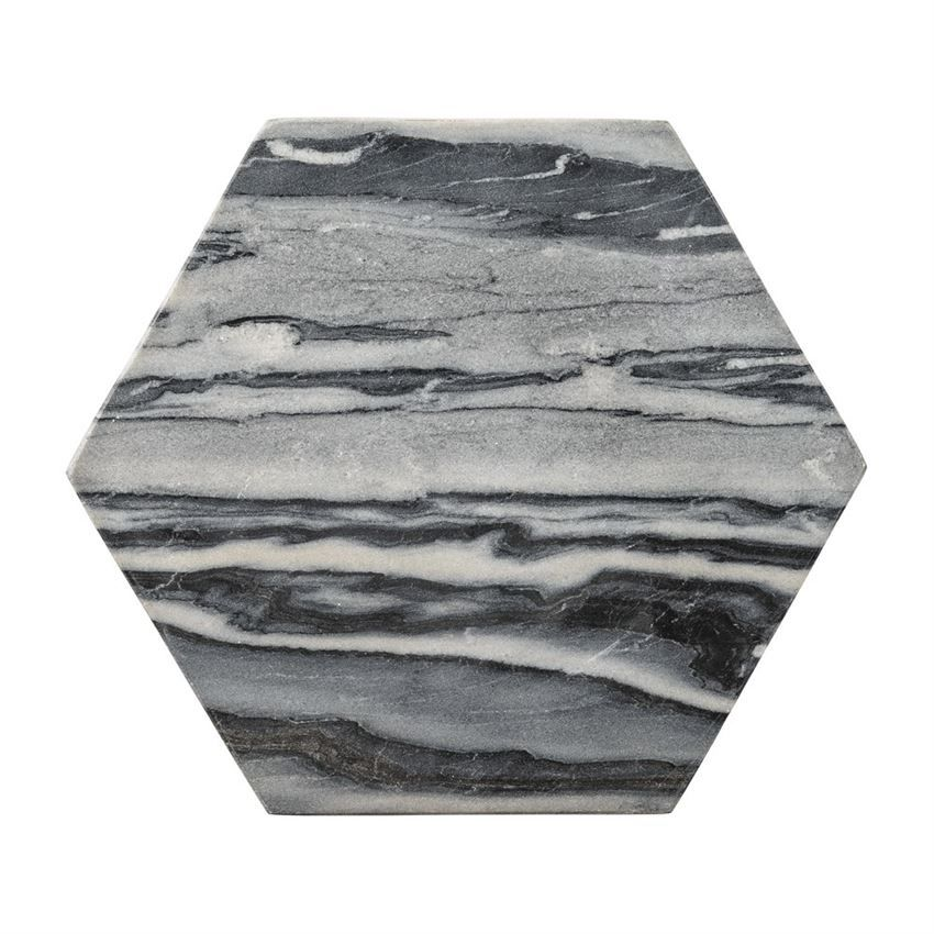 Grey Marble Hexagon Tray Cutting Board by Bloomingville  30bef0a25f440