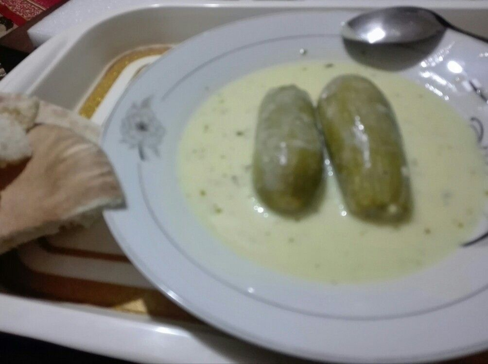 كوسا محشي بشوربة اللبن Marrow Stuffed With Rice And Yoghurt Broth Food And Drink Food Yoghurt