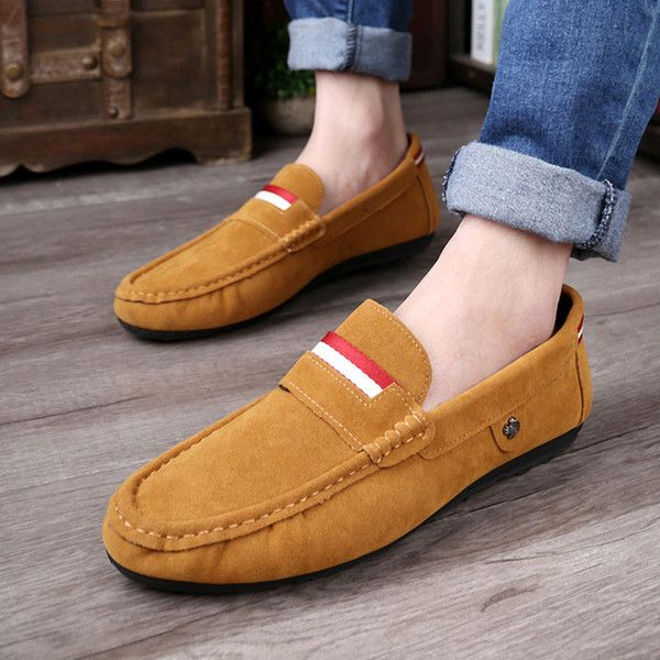 691707a3ef7 2015 Summer Mens Logo Shoes Casual Shoes Slip On Korean Breathable Shoes  Sneakers Office Shoes From Happyshopping100