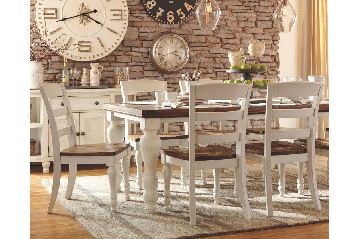 Two Tone Marsilona Dining Room Ashley Furniture Home Wishlist Table Decor Farmhouse Server