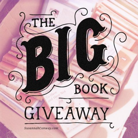 Check out this awesome book give away....http://www.susannahconway.com/2013/06/the-big-book-giveaway/