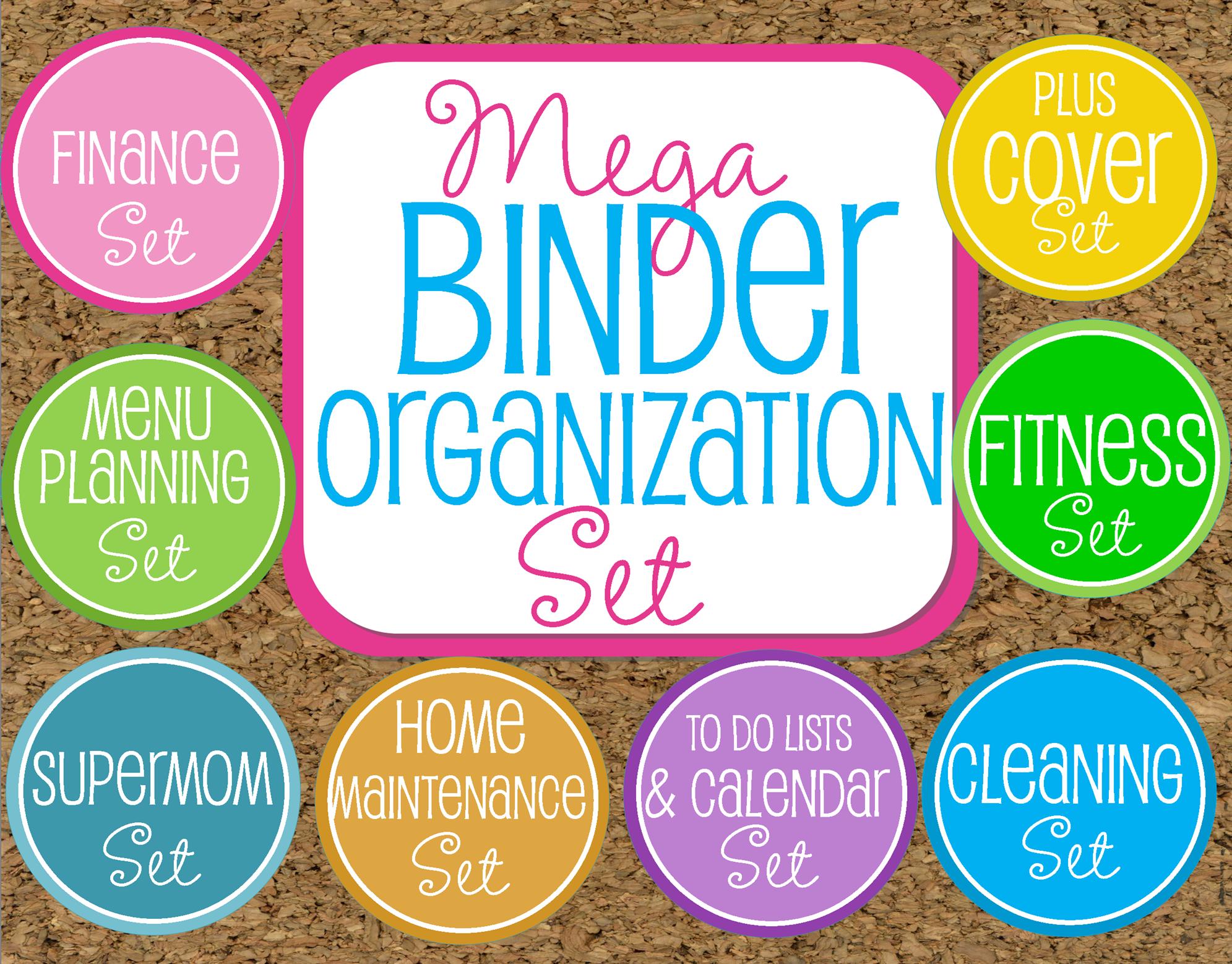 Organization Binders Giveaway Mega Binder Organization Kit