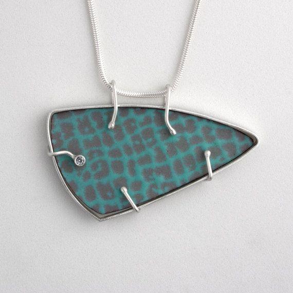 Triangular Matrix necklace by wwalshdesigns on Etsy