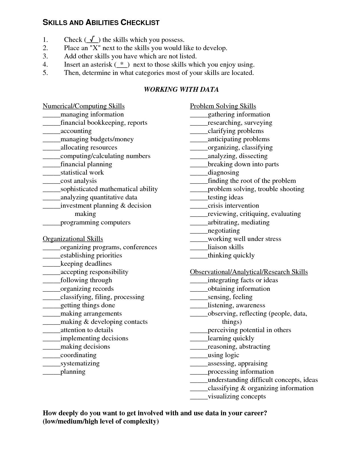 Resume Skills And Abilities Skills Qualifications Resume Examples Make Sample And Abilities
