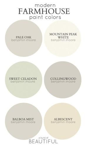 Modern Farmhouse Color Palette From Benjamin Moore By Kristie