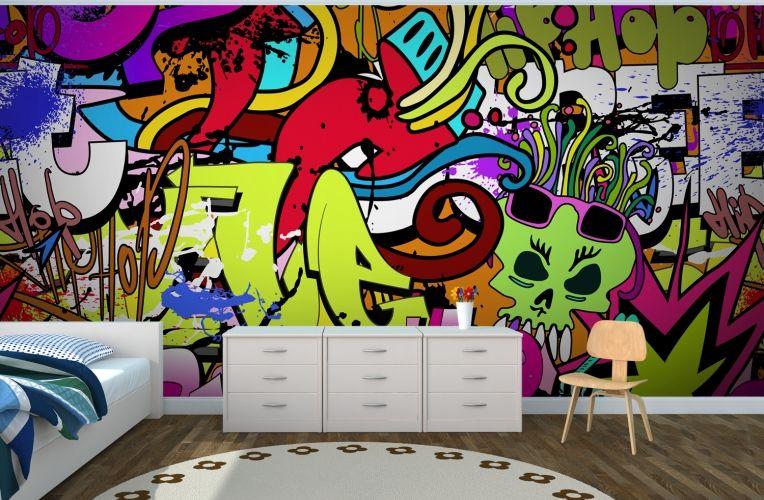 Funky Wall Art Mural   Wall murals, Wallpaper and Wallpaper murals