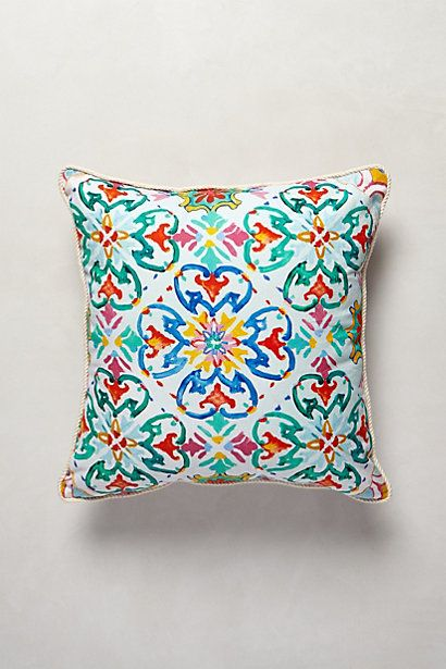 This would be so cute on a big, white, comfy bed  Under Sun Pillow - Anthropologie