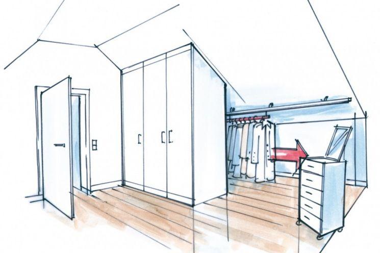 dressglider l sung dachschr ge verschiebbare kleiderstange loft ideas pinterest. Black Bedroom Furniture Sets. Home Design Ideas